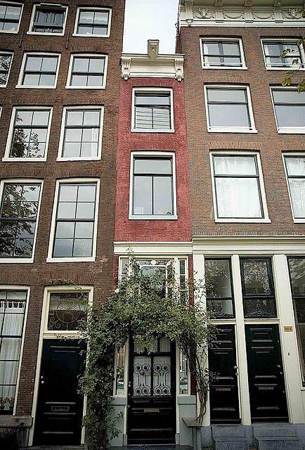 бесплатные развлечения в Амстердаме самый узкий дом