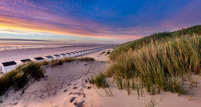 пляжи Нидерландов Тексел