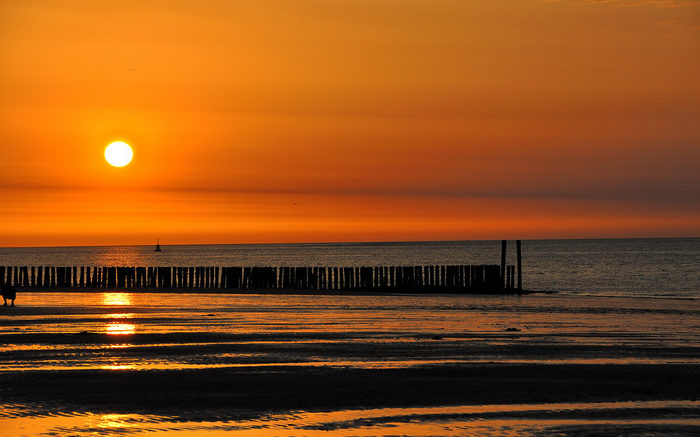 пляжи Нидерландов Флиссинген