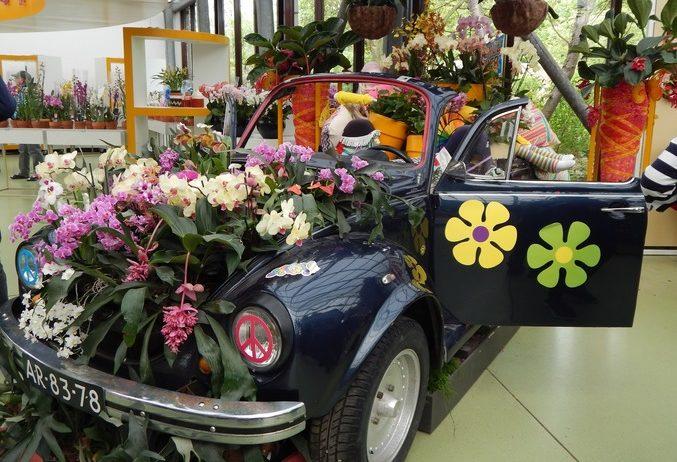 кекенхоф 2019 машина с цветами