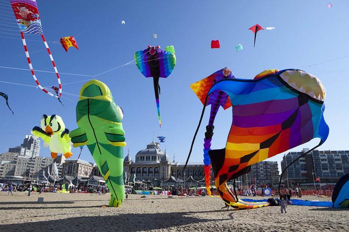 фестиваль воздушных змеев гаага