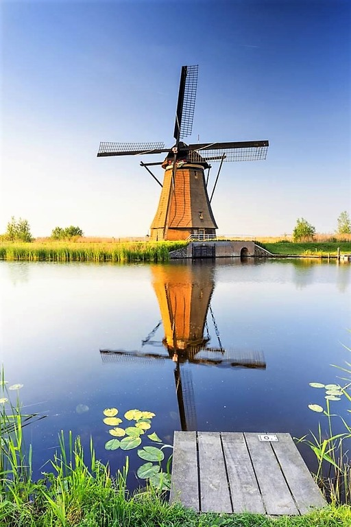 голландские мельницы Kinderdijk
