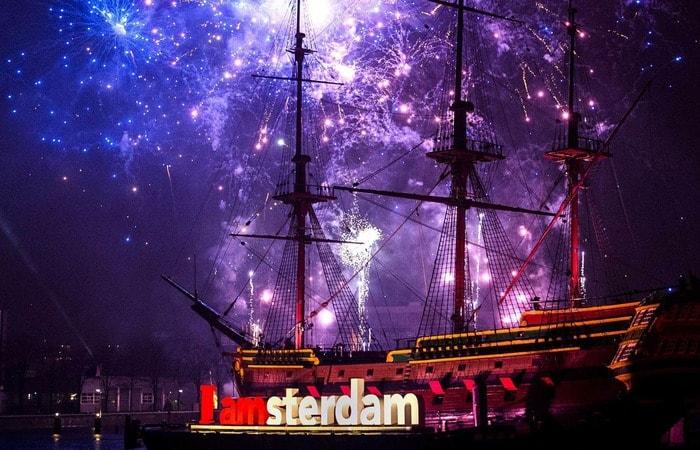 Амстердам зимой новый год