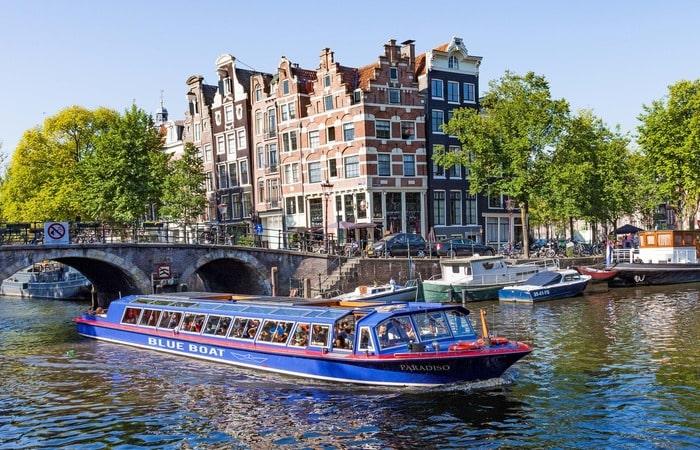 Амстердам с детьми круиз по каналам