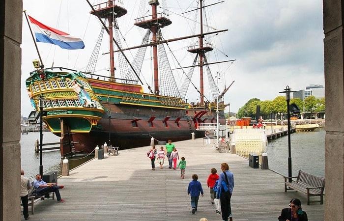 Амстердам с детьми музей судоходства