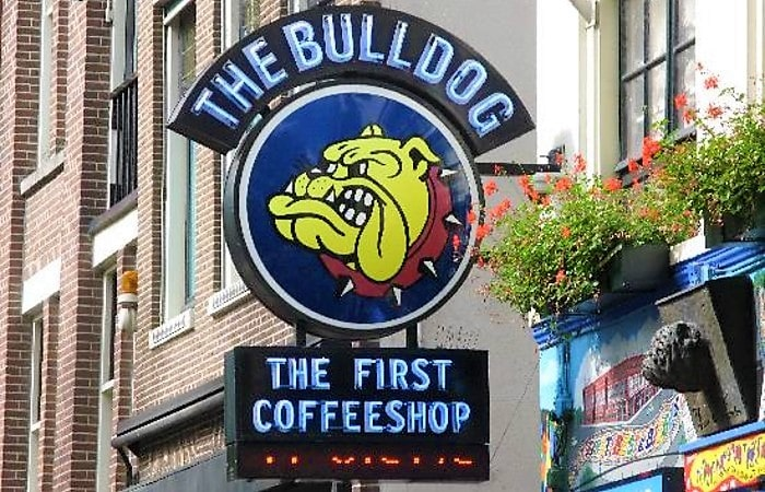 Время в Амстердаме кофешоп Бульдог