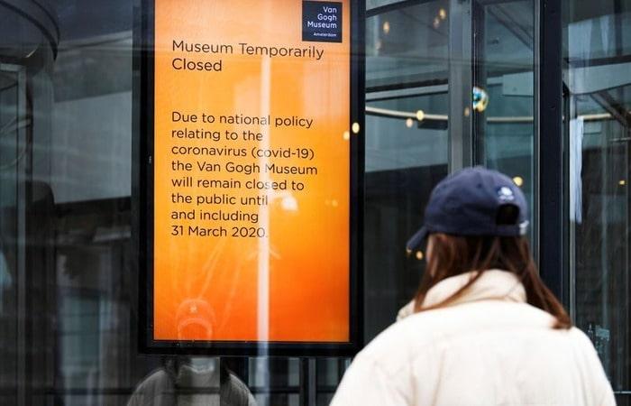 Коронавирус в Нидерландах музеи в Амстердами и коронавирус